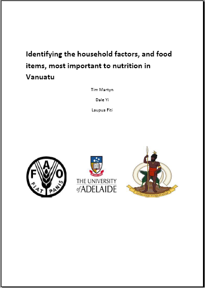 Food Analysis and Nutrition for Vanuatu